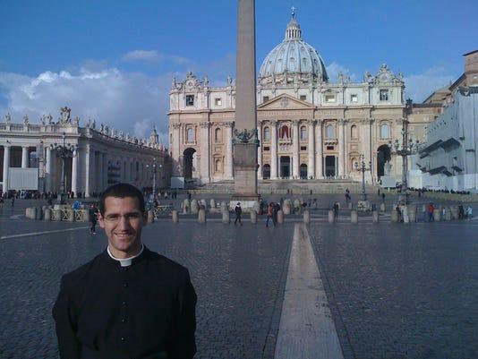 Lafayette's Patrick Broussard in Vatican City