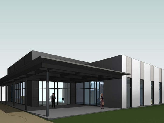 Rendering of the new Regions Mortgage facility entrance
