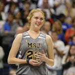 Lauren Hill, 19, a freshman at Mount St. Joseph University who died earlier this month from an inoperable rare form of brain cancer, received the Wilma Rudolph Student Athlete Achievement Award after her first college basketball game Nov. 2.