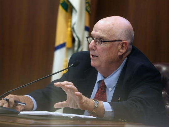 Dover City Councilman   William F. Hare speaks at a