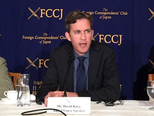 U.N. Special Rapporteur David Kaye speaks at a news