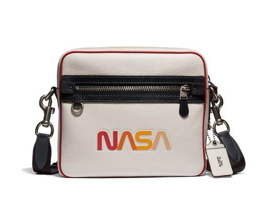 Some Coach designs sport NASA's old worm logo.