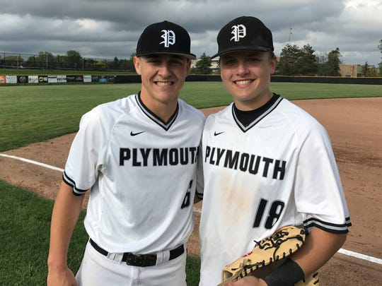 Pitcher Evan Good (left) and first baseman Robbie Begley