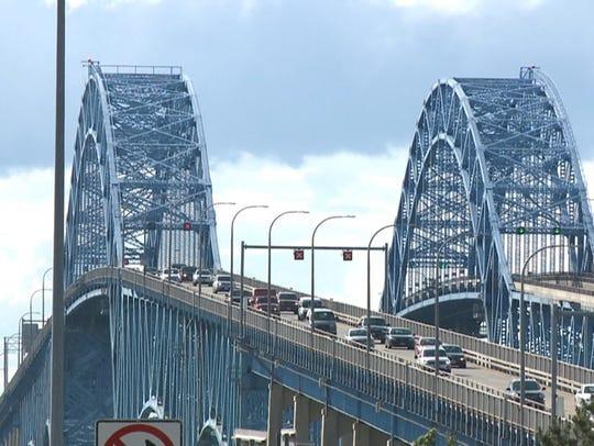 The Grand Island bridges span the Niagara River between