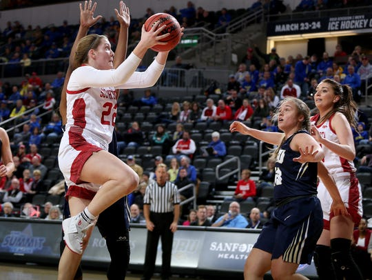 SIOUX FALLS, SD - MARCH 5:  Chloe Lamb #22 of South