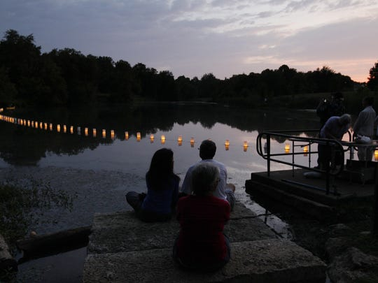 The annual lantern floating ceremony commemorating Hiroshima and Nagasaki sponsored by Interfaith Paths to Peace's is Saturday, Aug. 6, at 8 p.m. in Prospect's Putney's Pond at Woodlands Park.