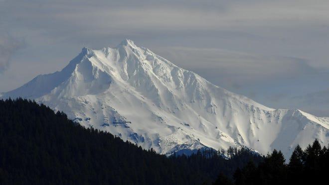 A snow-capped Mt. Jefferson