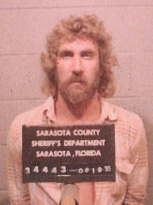 Booking photo of Allen Schultz in 1985 from the (then) Sarasota County Sheriff's Department