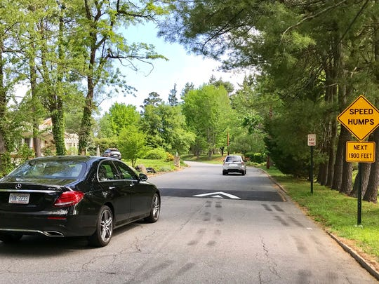 The city of Asheville recently installed seven speed humps on Wembley Road in North Asheville. A reader wonders why they put in so many. The humps do meet the correct engineering standards for height and width.