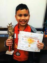 Kaleb Togawa a second-grade student at Adacao Elementary