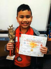Kaleb Togawa a second-grade student at Adacao Elementary School won first place during Adacao's Spelling Bee held on Jan. 23.