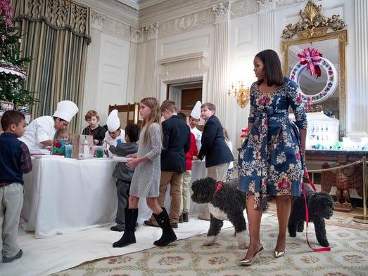 Para su última Navidad en la Casa Blanca, Michelle