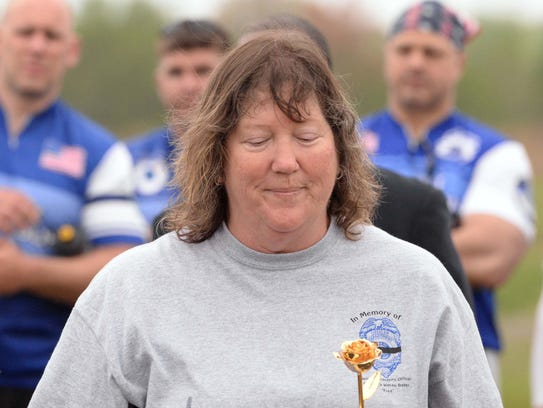 Kelly O'Brien-Baker at a Police Unity Tour event in