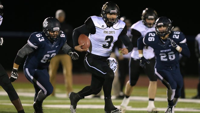 Rush-Henrietta quarterback Jared Gerbino has helped the Royal Comets beat two undefeated teams during the Section V Class AA tournament. .