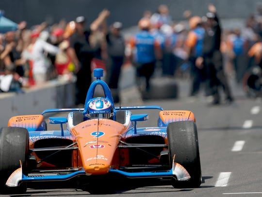 Chip Ganassi Racing driver Scott Dixon wins the Verizon