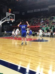 Action from Sunday's Class B quarterfinal pitting Seton