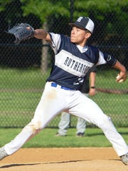Rutherford junior pitcher Jacob Gomez threw a two-hitter and struck out 10 Dumont batters to garner the county win.
