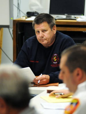 Arlington Fire District Board of Commissioners chairman Richard Dore on Monday, in the Town of Poughkeepsie.