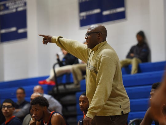 Juan Griles, the suspended boys basketball coach at Eastside High School in Paterson, at a game in January.