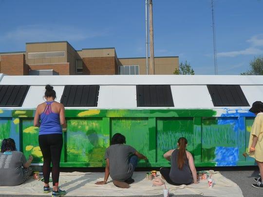 Volunteer State Community College art students helped