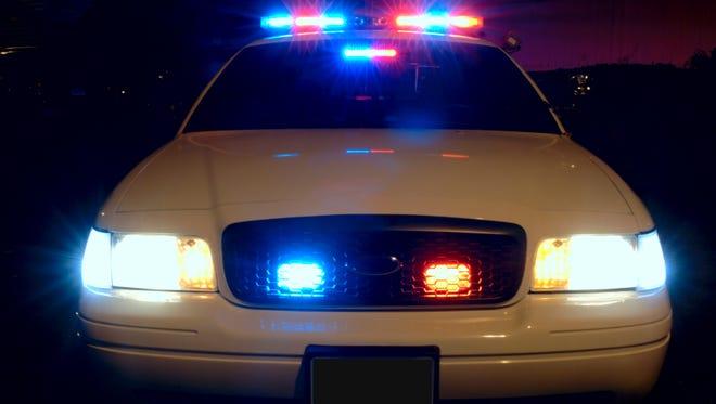Police car lights.