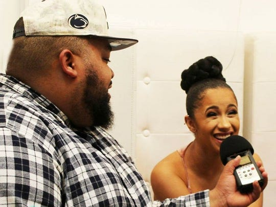 "Dominick ""King Dom"" Draper of Allhiphop.com and The News Journal interviews Cardi B."