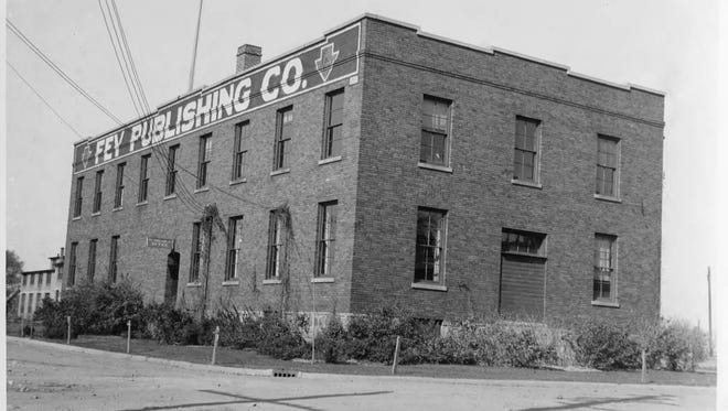 Fey Publishing was built in 1916 at at 510 High St. Business operations remained at that location until the mid-1990s. The building originally was home to a barrel-making company.