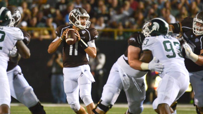 Western Michigan quarterback Zach Terrell in action vs. Michigan State on Sept. 4 in Kalamazoo.