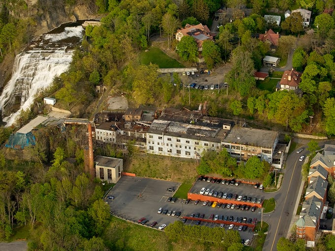 The Ithaca Gun factory is seen in an aerial view looking