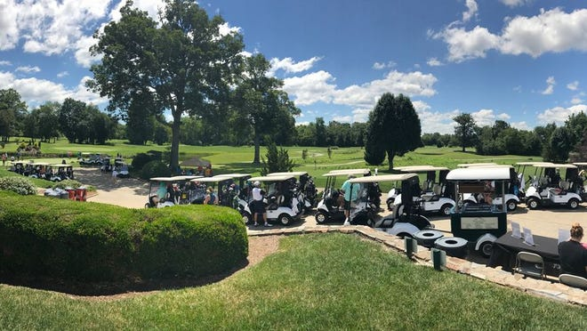Golfers get ready to compete in a past tournament in this photo provided by Broadmoor Golf Links.