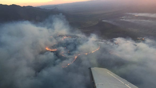 Strong, gusty winds and low humidity have contributed to the spread of the Sawmill Fire, which  is burning south of Tucson.