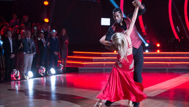 Johnson and professional dancer Lindsay Arnold are among four remaining couples who will compete for the Mirror Ball Trophy in the show's finals next week.