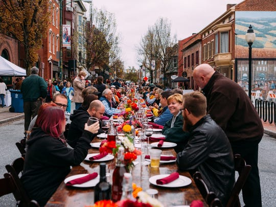 York's annual Farm to City Dinner will bring more than 200 people to one long table in the center of North Beaver Street  on Oct. 2.