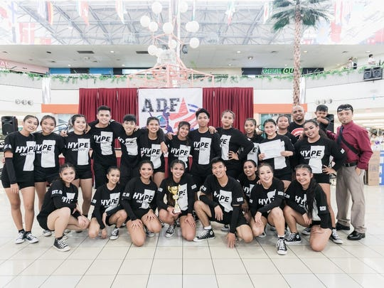 "The Okkodo High School team ""HYPE"" How Young People Entertain won the 2018 Guam DOE Allied Dance Force dance competition held at the Guam Museum in conjunction with the Youth Festival. The award ceremony was held at the Micronesia Mall May 28. The 2018 ADF Dance Team was awarded with cash prizes, trophies, gift certificates and certificates of acknowledgment by the ADF director C'zer Medina. Pictured in back from left: Ireese Valencia, Ela Aquino, Aili Cruz treasurer, Curtis Mostales historian, Axel Young, Shakira Francisco, Dona Silang, Gabe Salomes, Liberty Santos, Chloe Balicha sergeant at arms, Siyenna Gutierrez vice president, Raziel Diaz, Ruel Estoy avisor, Cyrus, Jessica Catalon secretary. Front from left: Samantha Gonzales, Kaila Manalo, Cynthia Berberio PRO, Nicole Raqueno captain, Myles Macaraeg president, Jasmine Balatbat, Amarah Santos, Krystal Ramos, Ruel Estoy and C'zer Medina. Not shown: Rachel Siaotong co- advisor."