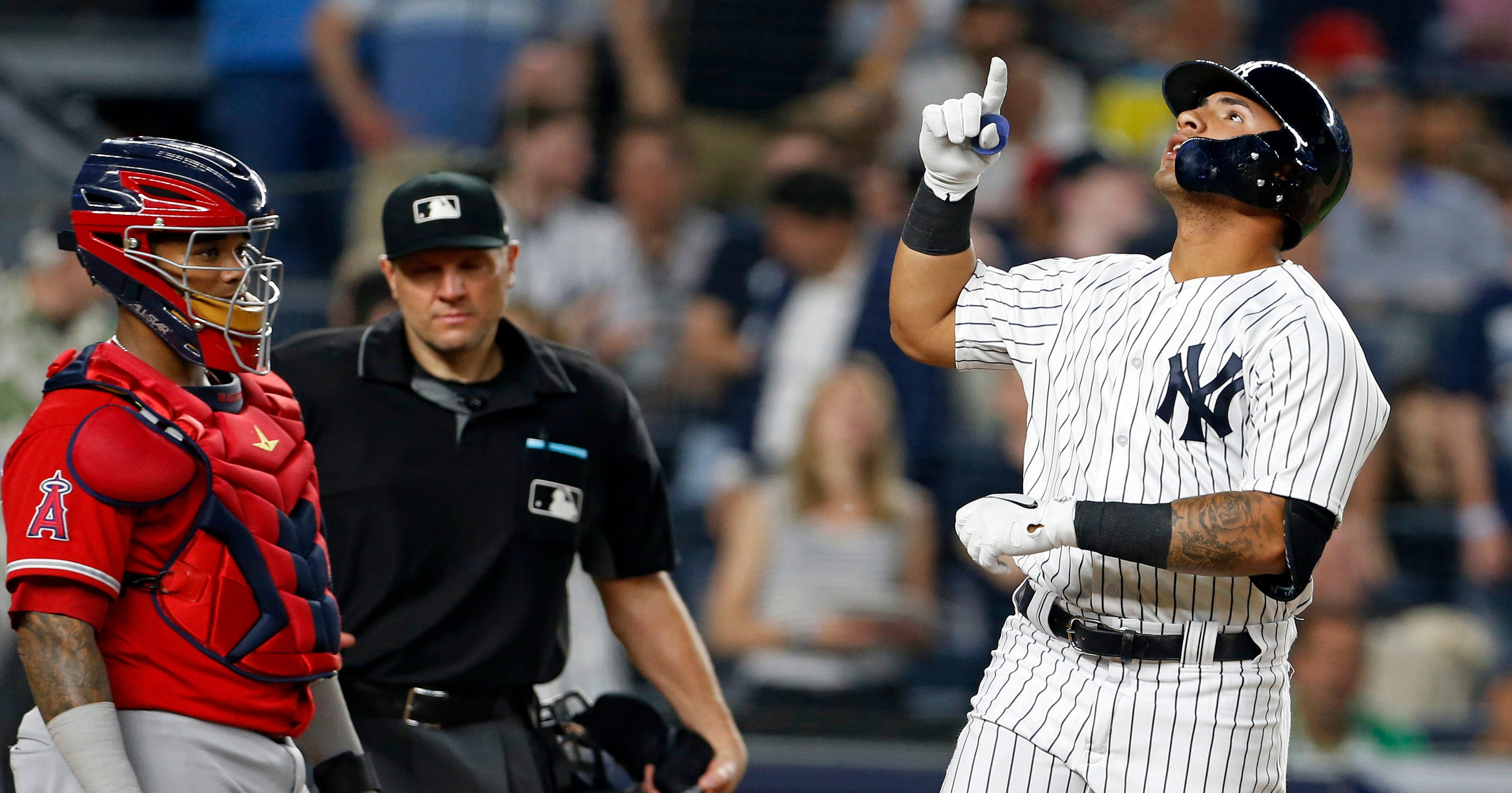 1a436c9489b Gleyber Torres sets New York Yankees home run mark in win over LA Angels