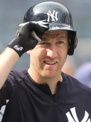 Todd Frazier gets ready for batting practice as the