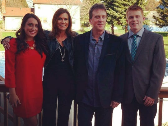 David Corcoran and his family in 2014: From left, daughter Grace, wife Liz and son Jackson.