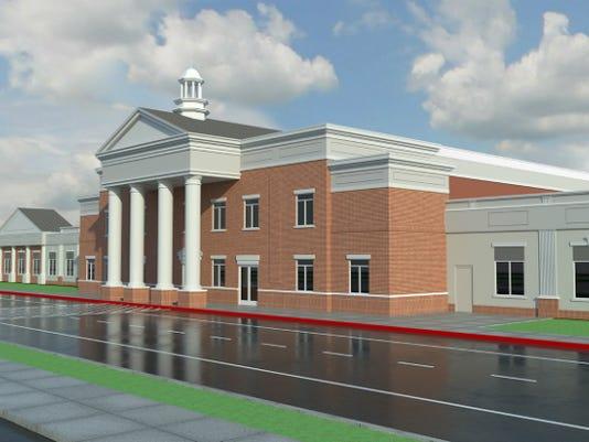 Rendering shows new school