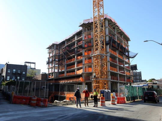 Renovation continues at 587 Main Street, a mixed-use redevelopment in New Rochelle, Oct. 18, 2017.