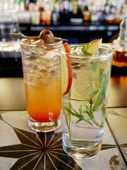 Peninsula: Two Gin & Tonic selections: #3 with pimenton-olive-Fever
