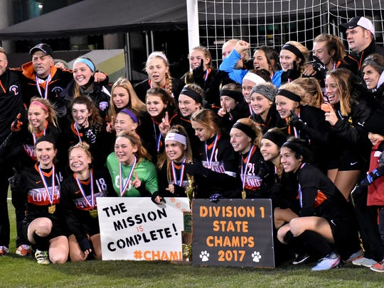 The Loveland Tigers are the Division1 Girls State Soccer