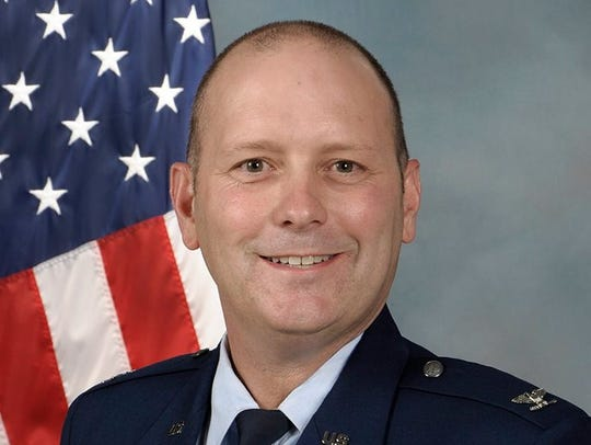Air Force Brig. Gen. Doug Schiess, commander of the 45th Space Wing.