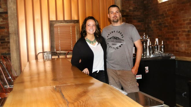 Nicole and Dale Douglass, Jr., are the owners of the Olde Towne Tavern in Tuscarawas, which is scheduled to open in June.