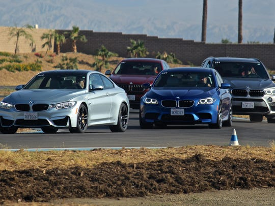 Participants test drive and rotate through four different BMW models, Tuesday, July 7, 2015, at the BMW Performance Center in Thermal.They included a M4, M5, X5 and X6.