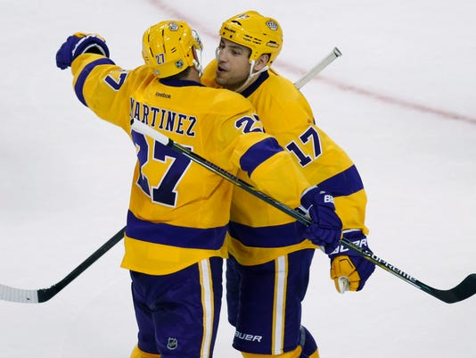 best service 8515a b9cc4 Milan Lucic scores in return to Boston; Kings rout Bruins 9-2