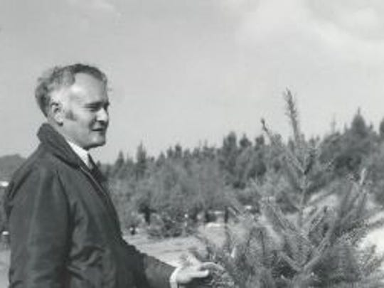 Warren Church at his Christmas tree farm on Hidden Valley Road in Monterey County.