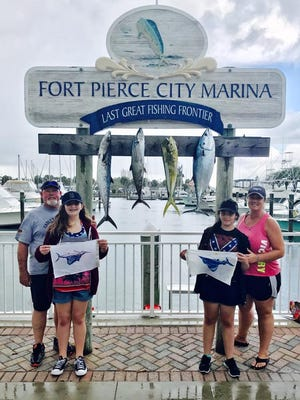 Kingfish and sailfish were caught recently by this group of anglers fishing with Capt. Rich Kluglein aboard Fins charters out of Fort Pierce City Marina.