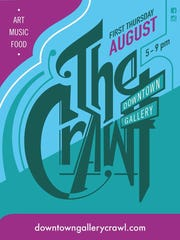The August Downtown Art Crawl is Thursday.