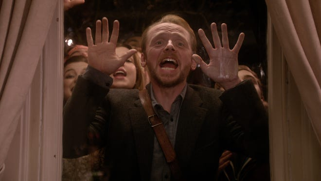 "Simon Pegg in a scene from ""Man Up."""
