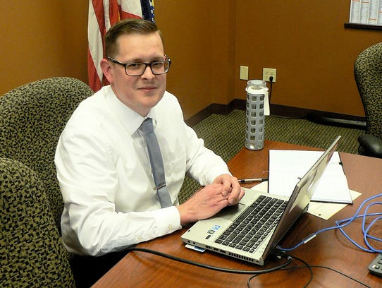 Brendon Soldner, an ag specialist at the state USDA/FSA